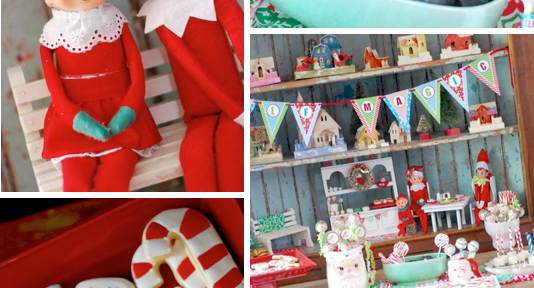 Elf on a Shelf holiday Christmas party planning via Kara's Party Ideas www.KarasPartyIdeas.com
