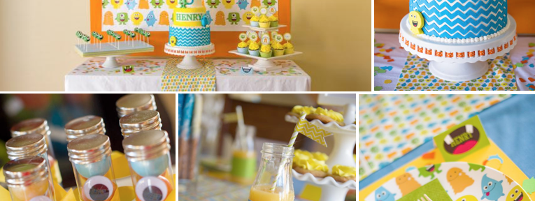 Friendly Monster Bash Birthday Party via Kara's Party Ideas www.KarasPartyIdeas.com