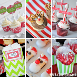 Holly Jolly Christmas Holiday Party Ideas via Kara's Party Ideas! FREE PRINTABLES! www.KarasPartyIdeas.com