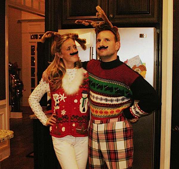 Ugly Christmas Party Sweaters: Kara's Party Ideas Ugly Sweater Mustache Adult Christmas