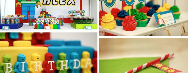 Lego Themed Seventh Birthday Party via Kara's Party Ideas www.KarasPartyIdeas.com