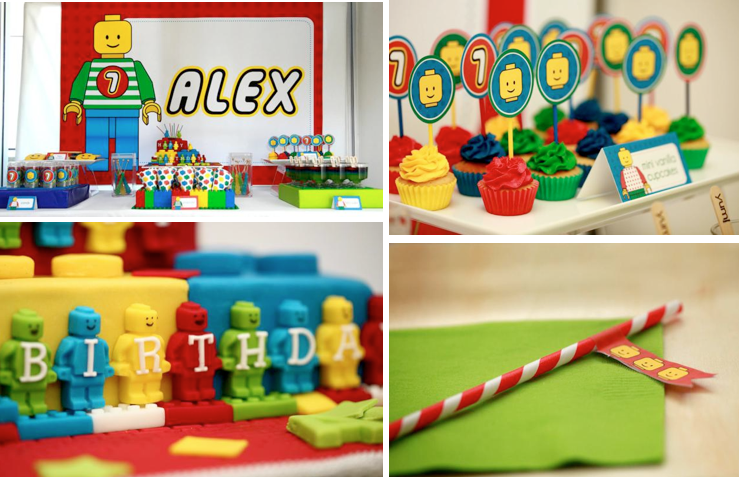 Karas Party Ideas Lego Blocks Boy 7th Birthday Planning