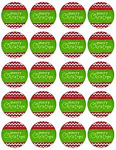 Modern Festive Merry Christmas Holiday Party Free Cupcake Toppers _ Tags via Kara's Party Ideas www.KarasPartyIdeas.com