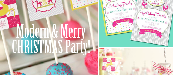 Modern & Merry Christmas Holiday Party planning via Kara's Party Ideas www.KarasPartyIdeas.com