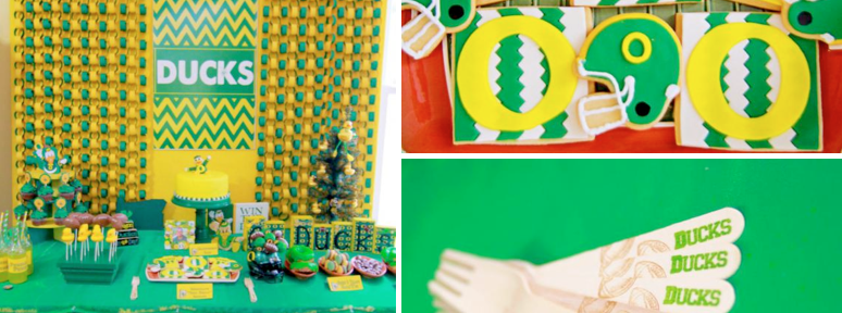 Oregon Ducks Birthday Party via Kara's Party Ideas - www.KarasPartyIdeas.com