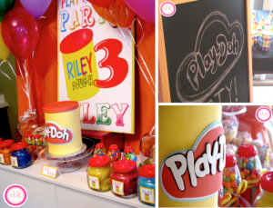 Playdoh play doh themed 3rd birthday party via Kara's Party Ideas www.KarasPartyIdeas.com