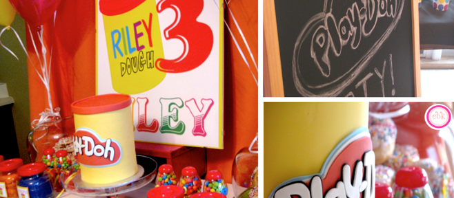 Play Doh Themed 3rd Birthday Party December 28