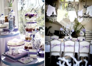 Pretty Purple Girl Themed Baby Shower via Kara's Party Ideas www.KarasPartyIdeas.com
