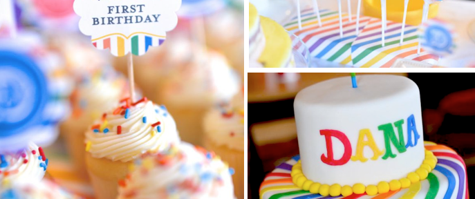 Rainbow themed Korean Dol 1st birthday party via Kara's Party Ideas www.KarasPartyIdeas.com