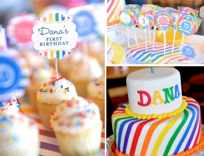 Karas Party Ideas Rainbow Colorful Korean Dohl 1st Birthday Party