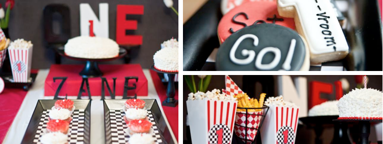 Retro 50's race car themed birthday party via Kara's Party Ideas www.KarasPartyIdeas.com