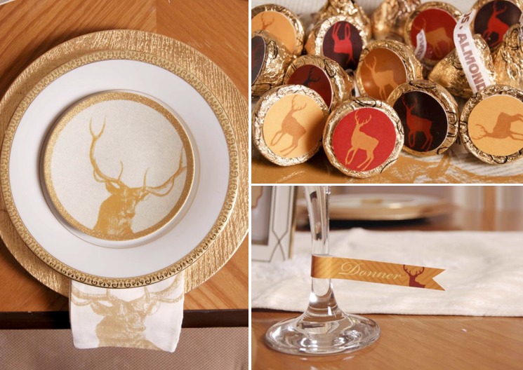Kara\u0027s Party Ideas Santa\u0027s Reindeer Christmas Holiday Dinner Party Planning Ideas & Kara\u0027s Party Ideas Santa\u0027s Reindeer Christmas Holiday Dinner Party ...