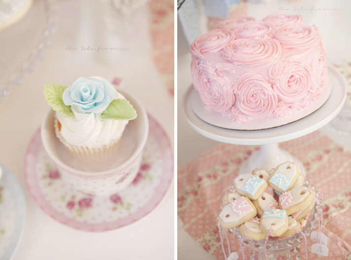 Karas Party Ideas Shabby Chic Pink Girl Tea Party Baby Shower