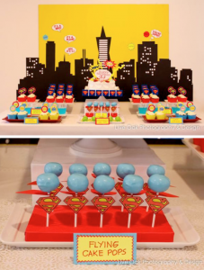 Superhero superman themed birthday party via Kara's Party Ideas www.KarasPartyIdeas.com