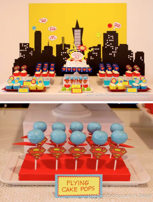 Karas Party Ideas Superhero Superman Boy Birthday Party Planning Ideas