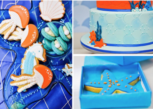 Under the sea 4th birthday party ocean fish via Kara's Party Ideas www.KarasPartyIdeas.com