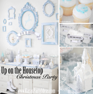 Up on the Housetop Holiday Christmas Song Party via Kara's Party Ideas - www.KarasPartyIdeas.com