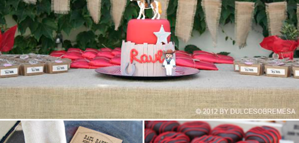 Western Themed First Communion Party Birthday Party Idea via Kara's Party Ideas www.KarasPartyIdeas.com