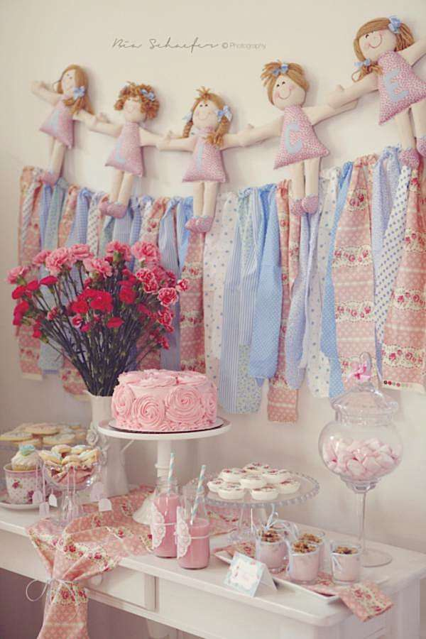 party ideas shabby chic pink girl tea party baby shower planning ideas