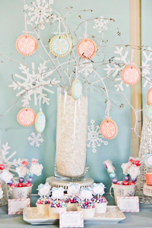 Karas Party Ideas Winter Wonderland 1st Birthday Party