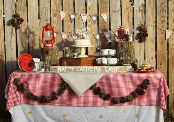 Karas Party Ideas Camping Themed Birthday