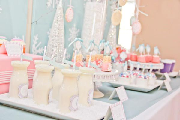 Karas Party Ideas Winter Wonderland Girl Snow 1st  ~ 213913_Birthday Party Ideas Winter