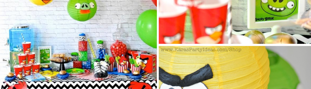 Angry Birds themed birthday party via Kara's Party Ideas karaspartyideas.com