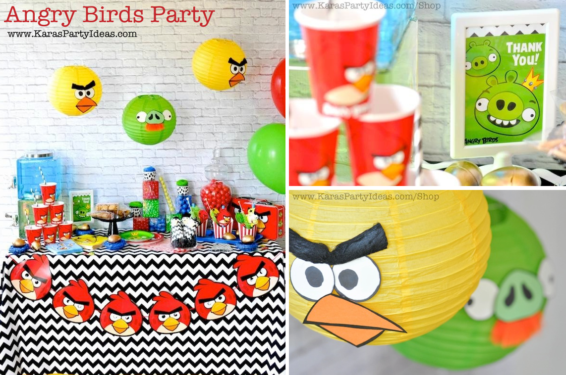 Karas Party Ideas Angry Birds Themed Birthday Party Planning Ideas