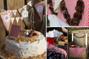 Camping themed birthday party via Kara's Party Ideas karaspartyideas.com #camping #party #ideas #outdoors
