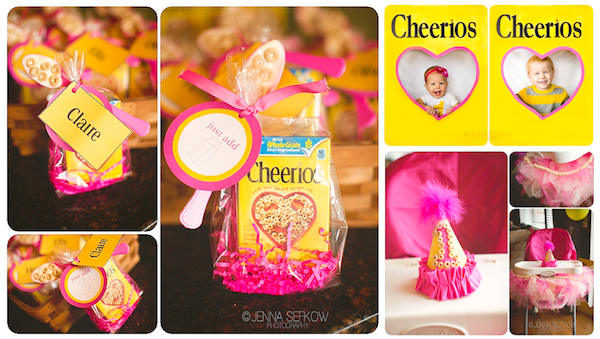 Karas Party Ideas Pink Cheerios Girl 1st Birthday Party Planning Ideas
