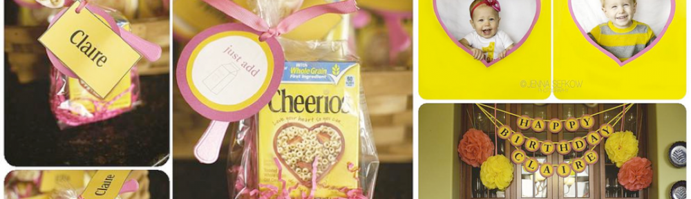 Cheerios themed birthday party via Kara's Party Ideas karaspartyideas.com #birthday #ideas #toddler #cheerios #party
