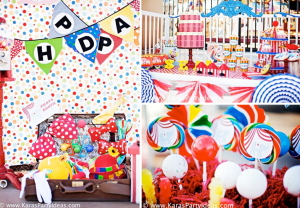 Circus Train Carnival Themed Birthday Party via Kara's Party Ideas www.KarasPartyIdeas.com