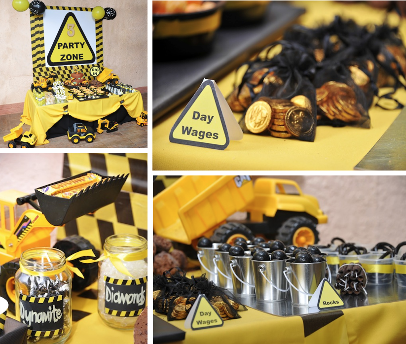Karas Party Ideas Mining Construction Truck Boy 3rd Birthday Party