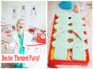 Doctor Nurse Themed Birthday Party or Med School Graduation party ideas via www.KarasPartyIdeas.com