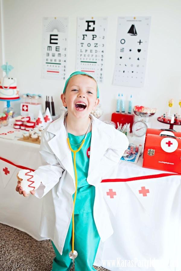Doctor + Nurse Themed Birthday Party - Kara's Party Ideas - The