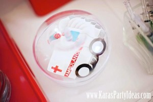 Doctor Nurse themed birthday or graduation party via Kara's Party Ideas www.KarasPartyIdeas.com-115