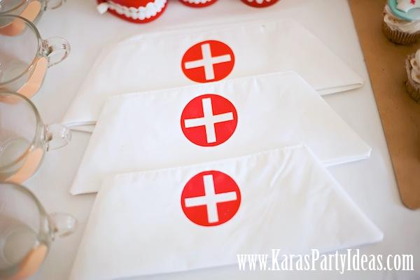 Doctor Nurse themed birthday or graduation party via Kara's Party Ideas www.KarasPartyIdeas.com-127