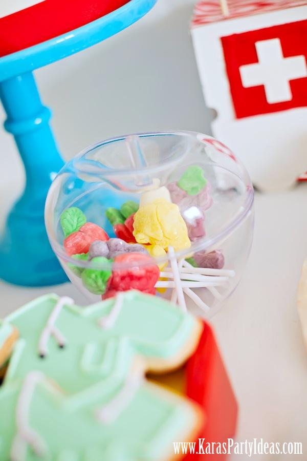 Doctor Nurse themed birthday or graduation party via Kara's Party Ideas www.KarasPartyIdeas.com-129