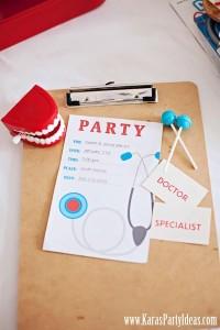 Doctor Nurse themed birthday or graduation party via Kara's Party Ideas www.KarasPartyIdeas.com-15