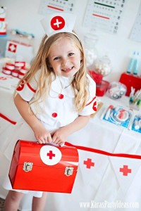 Doctor Nurse themed birthday or graduation party via Kara's Party Ideas www.KarasPartyIdeas.com-2