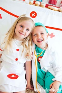 Doctor Nurse themed birthday or graduation party via Kara's Party Ideas www.KarasPartyIdeas.com-4