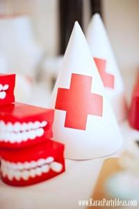 Doctor Nurse themed birthday or graduation party via Kara's Party Ideas www.KarasPartyIdeas.com-7