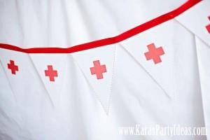 Doctor Nurse themed birthday or graduation party via Kara's Party Ideas www.KarasPartyIdeas.com-72