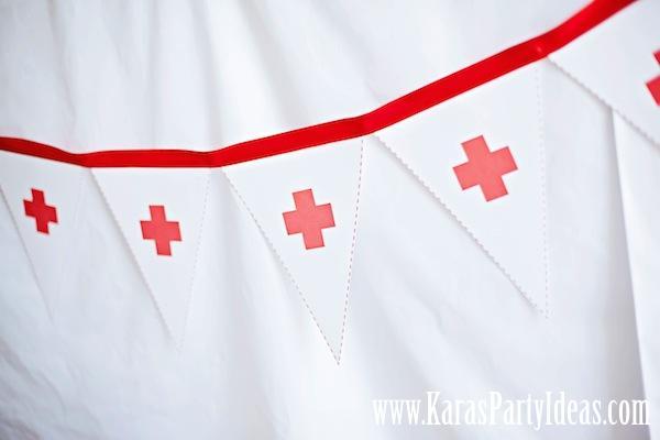 Karas Party Ideas Doctor Nurse Themed Birthday