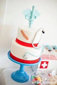 Doctor Nurse themed birthday or graduation party via Kara's Party Ideas www.KarasPartyIdeas.com-9