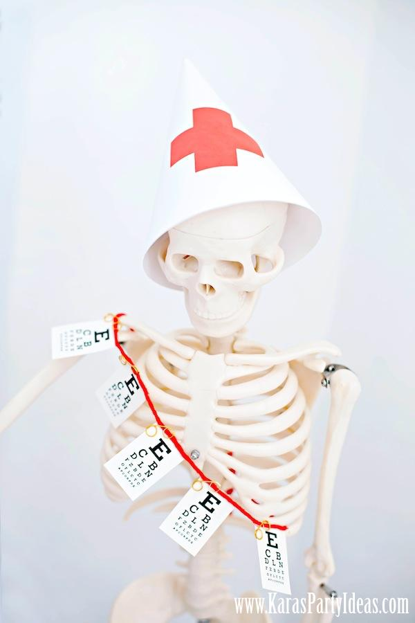 Doctor Nurse themed birthday or graduation party via Kara's Party Ideas www.KarasPartyIdeas.com-97