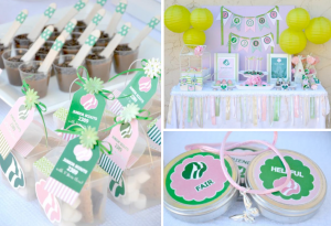 Girl Scouts themed ceremony birthday party via Kara's Party Ideas karaspartyideas.com #girl #scout #cookies #party #ceremony #ideas