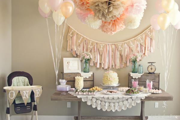 Party Ideas Shabby Chic Girl Vintage 1st Birthday Planning