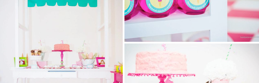Ice Cream Shoppe 3rd Birthday party via kara's party ideas karaspartyideas.com #ice cream #party #ideas