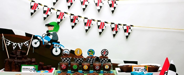 Motocross Dirt Bike Birthday Party via Kara's Party Ideas www.KarasPartyIdeas.com